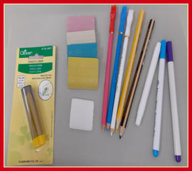 Markeren met krijt, stiften en potloden
