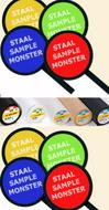Monster-staal-of-kleurenkaart