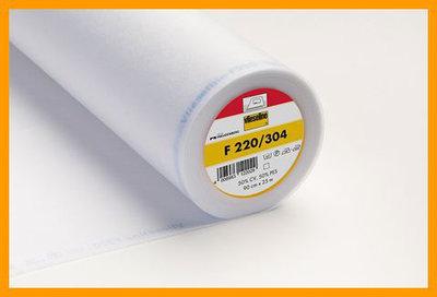 F220 een dunne plakbare vlieseline in wit en zwart