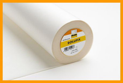 Solufix is a self-adhesive water soluble fleece