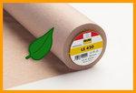 LE420 is een duurzame vlieseline gedeeltelijk gemaakt van gerecycled polyester vezels
