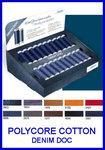 Display doos met alle kleuren polycore cotton denim doc