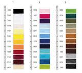 Kleurkaart van seraflex fantastisch elastisch naaigaren