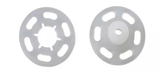Transparante drukkers 15mm doorsnee