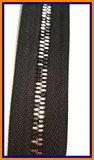 Multicolour rits zwarte en zilveren tanden en zwarte band deelbaar