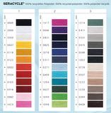 SeraCYCLE 100% gerecycled polyester universeel naaigaren - kleurkaart