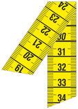 Detail van de professionele centimeters