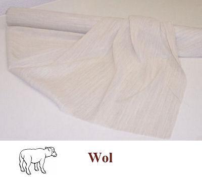 Soepele naaibare wolhaardoek naturel 80 cm breed