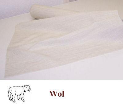 Stevigere naaibare wolhaardoek naturel 80 cm breed