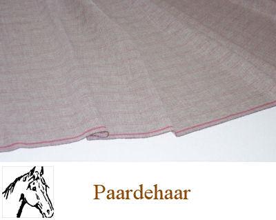 Soepele naaibare paardehaardoek beige 80 cm breed