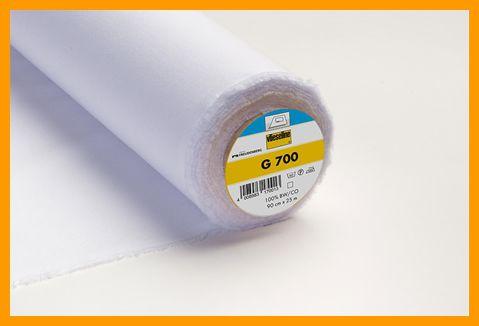 G700 plakkatoen vlieseline 90 cm breed