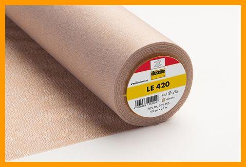 LE420 leervlieseline beige 90 cm breed