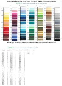 Kleurkaart Alterfil