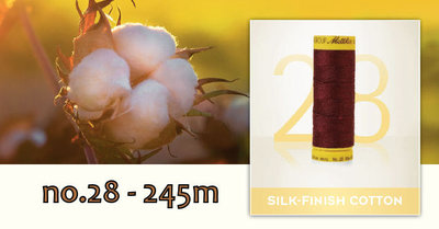 Silk Finish Cotton dikte 28