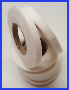 Kantenband 1cm breed wit rol 25m
