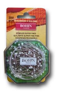 Spelden met witte glaskop 0,55x35mm doosje 200 stuks BOHIN