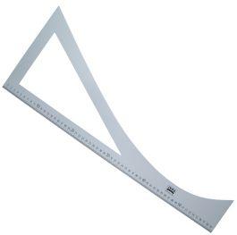 Patroon liniaal aluminium 60cm