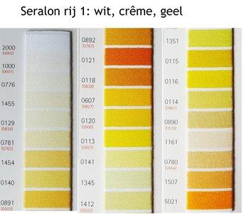 Seralon universeel naaigaren wit, creme en geel