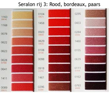 Seralon universeel naaigaren in rood, bordeaux en paars