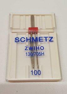 Ajour / wing / zwaard naald tweeling van Schmetz