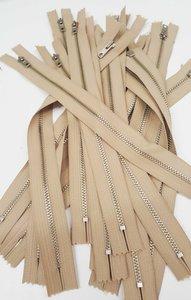 Fijne metalen ritsen niet deelbaar voor gulpen, zakken enz.